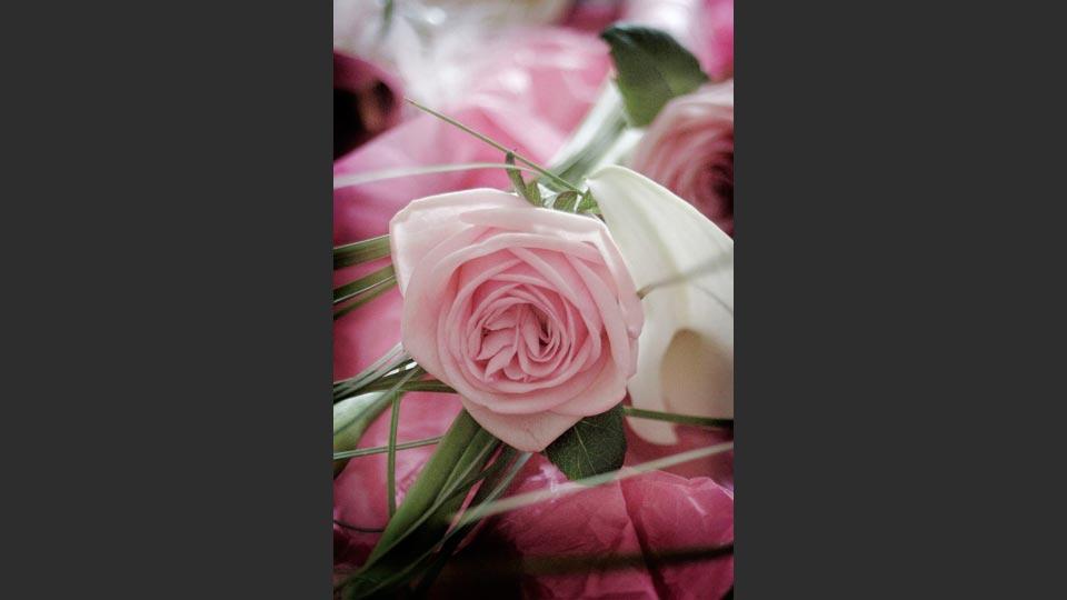Photograph of a brides bouquet