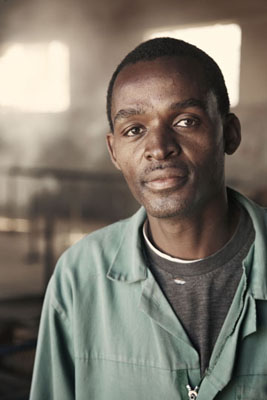 Portrait of Alfred Hendricks a foreman at Bushblok Namibia.